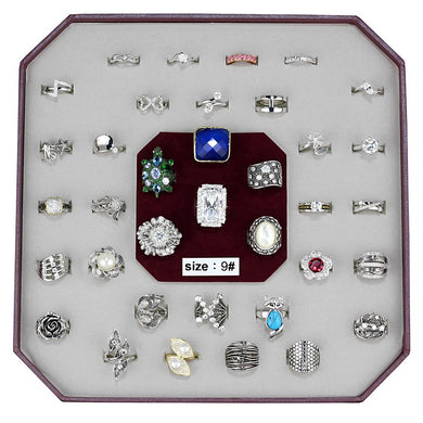 VK-013-SIZE9 - Assorted Brass Ring with Assorted  in Assorted
