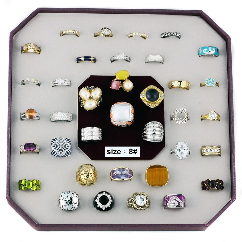 VK-014-SIZE8 - Assorted Brass Ring with Assorted  in Assorted