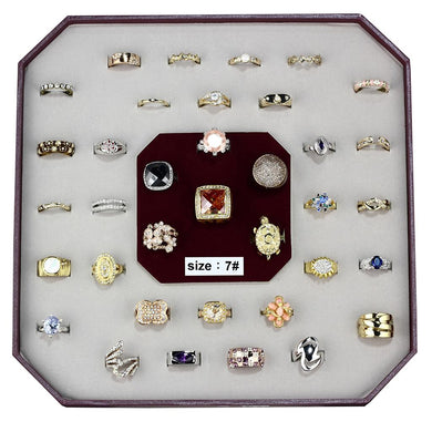VK-015-SIZE7 - Assorted Brass Ring with Assorted  in Assorted