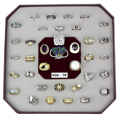 VK-016-SIZE7 - Assorted Brass Ring with Assorted  in Assorted