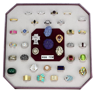VK-016-SIZE8 - Assorted Brass Ring with Assorted  in Assorted