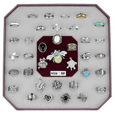 VK-017-SIZE6 - Assorted Brass Ring with Assorted  in Assorted