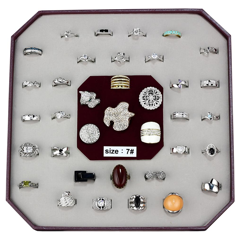 VK-017-SIZE7 - Assorted Brass Ring with Assorted  in Assorted