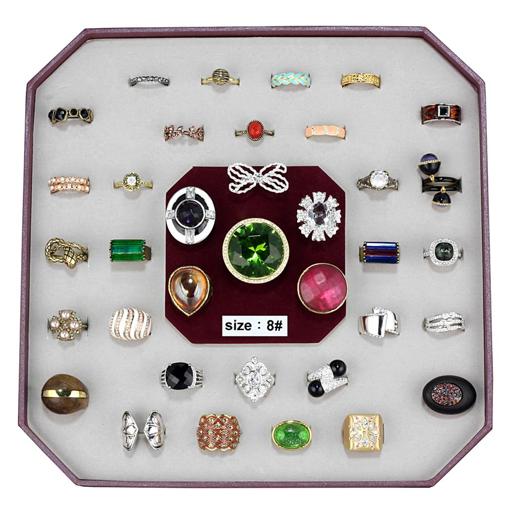 VK-019-SIZE8 - Assorted Brass Ring with Assorted  in Assorted