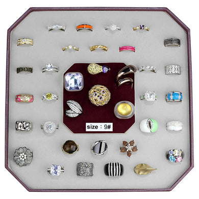 VK-019-SIZE9 - Assorted Brass Ring with Assorted  in Assorted