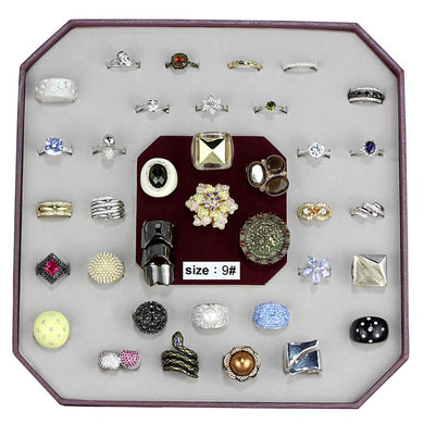 VK-020-SIZE9 - Assorted Brass Ring with Assorted  in Assorted