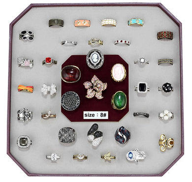 VK-021-SIZE8 - Assorted Brass Ring with Assorted  in Assorted