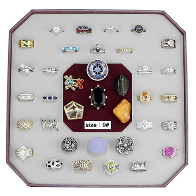 VK-021-SIZE9 - Assorted Brass Ring with Assorted  in Assorted