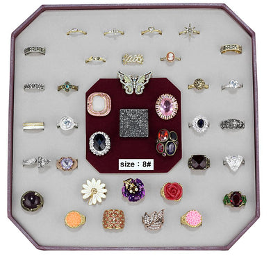 VK-022-SIZE8 - Assorted Brass Ring with Assorted  in Assorted