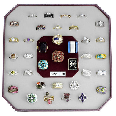 VK-022-SIZE9 - Assorted Brass Ring with Assorted  in Assorted