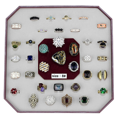 VK-023-SIZE8 - Assorted Brass Ring with Assorted  in Assorted