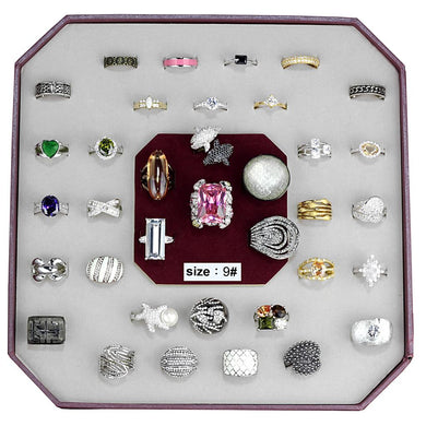 VK-023-SIZE9 - Assorted Brass Ring with Assorted  in Assorted