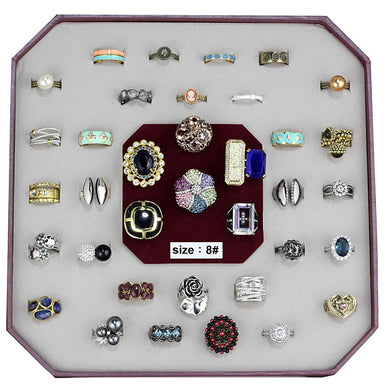 VK-024-SIZE8 - Assorted Brass Ring with Assorted  in Assorted