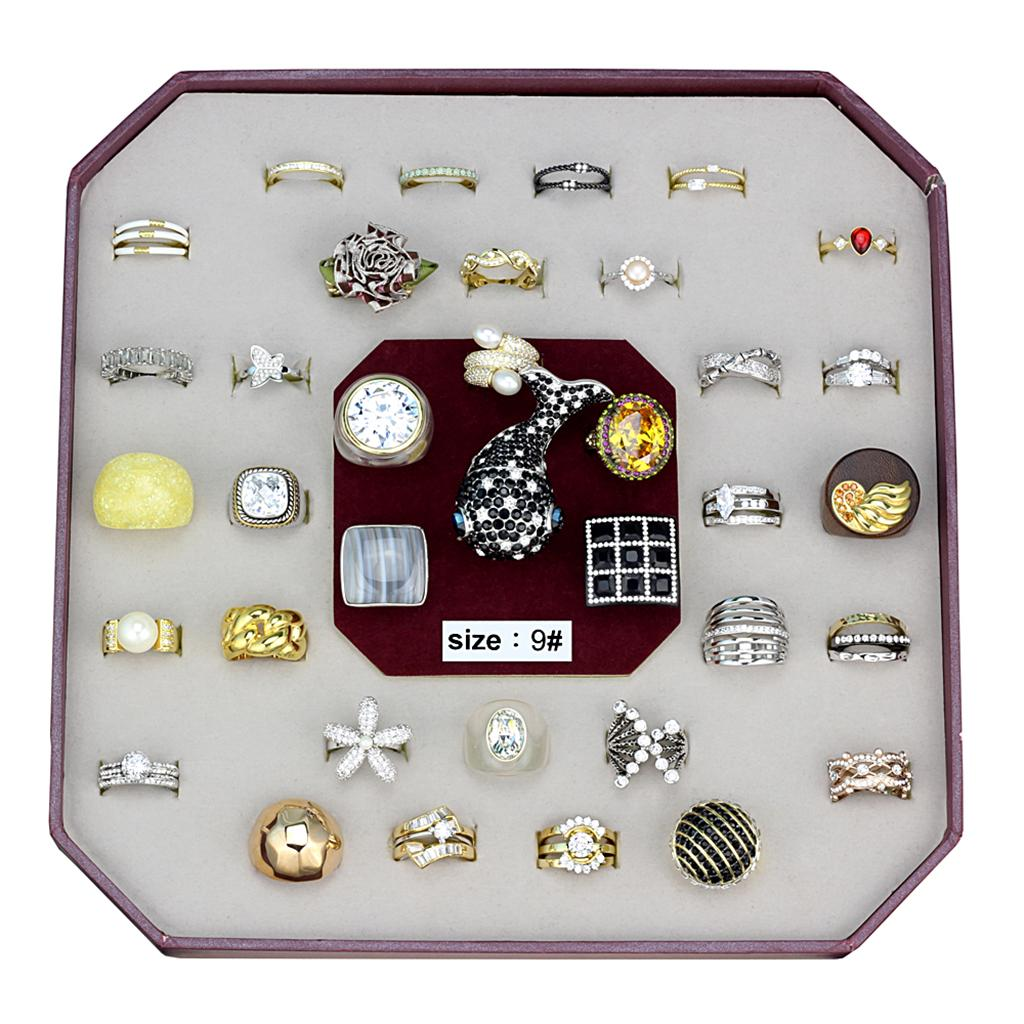 VK-024-SIZE9 - Assorted Brass Ring with Assorted  in Assorted
