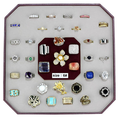 VK-026-SIZE6 - Assorted Brass Ring with Assorted  in Assorted