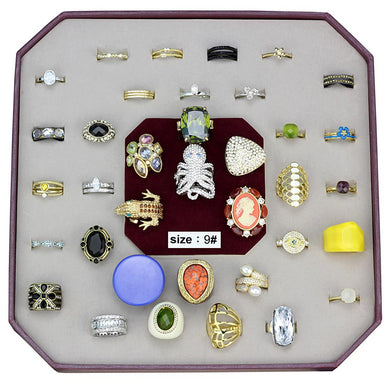 VK-025-SIZE9 - Assorted Brass Ring with Assorted  in Assorted
