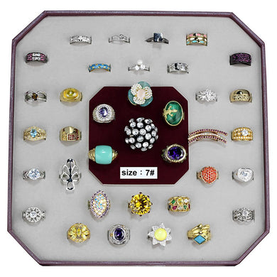 VK-026-SIZE7 - Assorted Brass Ring with Assorted  in Assorted