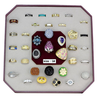 VK-026-SIZE9 - Assorted Brass Ring with Assorted  in Assorted