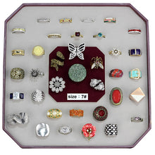 Load image into Gallery viewer, VK-027-SIZE8 - Assorted Brass Ring with Assorted  in Assorted