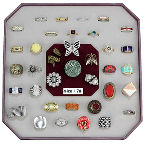 VK-027-SIZE8 - Assorted Brass Ring with Assorted  in Assorted