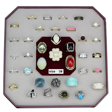 VK-027-SIZE9 - Assorted Brass Ring with Assorted  in Assorted
