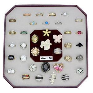 VK-028-SIZE7 - Assorted Brass Ring with Assorted  in Assorted
