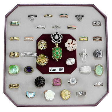 VK-028-SIZE8 - Assorted Brass Ring with Assorted  in Assorted