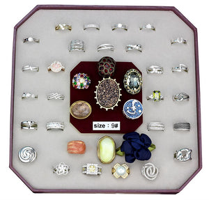 VK-028-SIZE9 - Assorted Brass Ring with Assorted  in Assorted