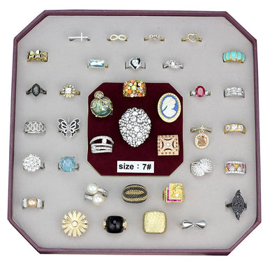 VK-029-SIZE7 - Assorted Brass Ring with Assorted  in Assorted