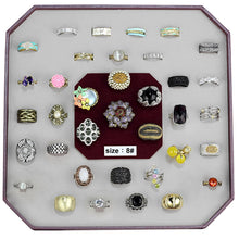 Load image into Gallery viewer, VK-029-SIZE8 - Assorted Brass Ring with Assorted  in Assorted