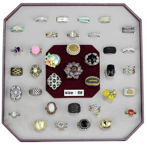 VK-029-SIZE8 - Assorted Brass Ring with Assorted  in Assorted