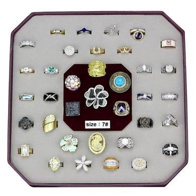 VK-030-SIZE7 - Assorted Brass Ring with Assorted  in Assorted