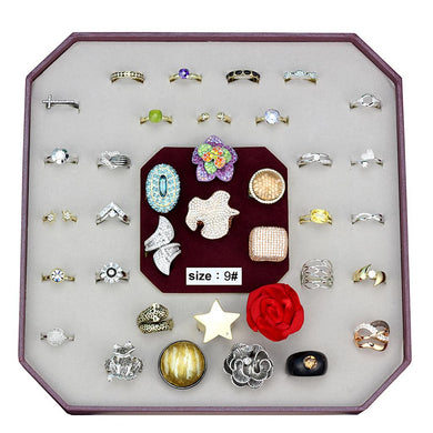 VK-030-SIZE9 - Assorted Brass Ring with Assorted  in Assorted