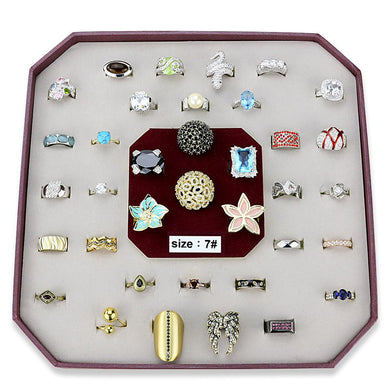 VK-031-SIZE7 - Assorted Brass Ring with Assorted  in Assorted