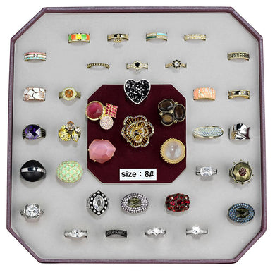 VK-031-SIZE8 - Assorted Brass Ring with Assorted  in Assorted