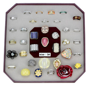VK-031-SIZE9 - Assorted Brass Ring with Assorted  in Assorted