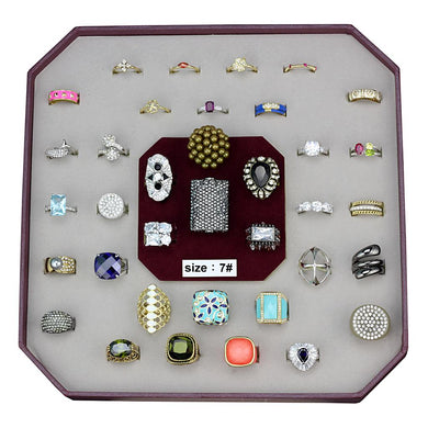 VK-032-SIZE7 - Assorted Brass Ring with Assorted  in Assorted
