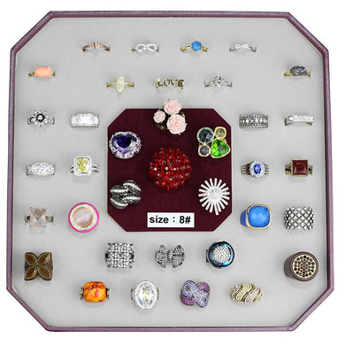 VK-033-SIZE8 - Assorted Brass Ring with Assorted  in Assorted