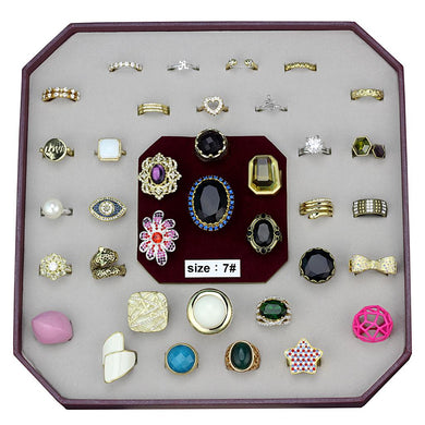 VK-034-SIZE7 - Assorted Brass Ring with Assorted  in Assorted