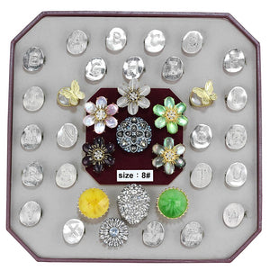 VK-034-SIZE8 - Assorted Brass Ring with Assorted  in Assorted