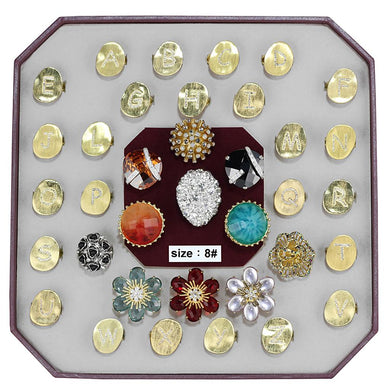 VK-035-SIZE8 - Assorted Brass Ring with Assorted  in Assorted