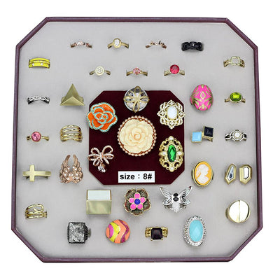 VK-036-SIZE8 - Assorted Brass Ring with Assorted  in Assorted