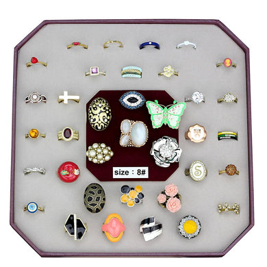VK-038-SIZE8 - Assorted Brass Ring with Assorted  in Assorted