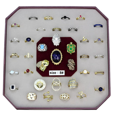VK-040-SIZE8 - Assorted Brass Ring with Assorted  in Assorted
