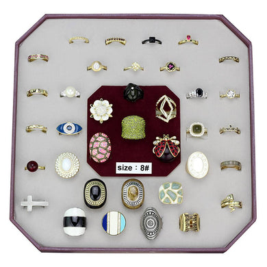 VK-042-SIZE8 - Assorted Brass Ring with Assorted  in Assorted