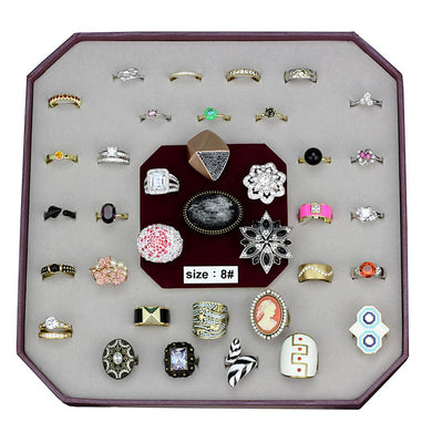 VK-044-SIZE8 - Assorted Brass Ring with Assorted  in Assorted
