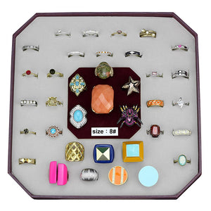 VK-045-SIZE8 - Assorted Brass Ring with Assorted  in Assorted