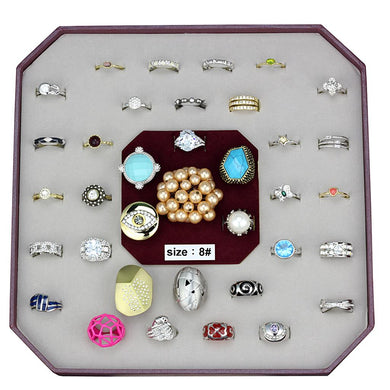 VK-046-SIZE8 - Assorted Brass Ring with Assorted  in Assorted