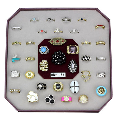 VK-047-SIZE8 - Assorted Brass Ring with Assorted  in Assorted