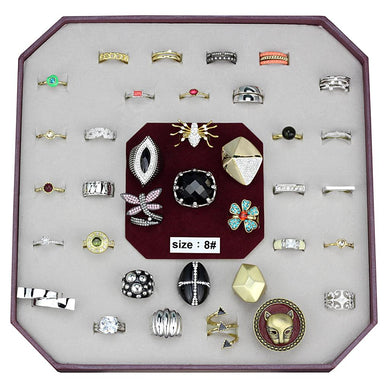 VK-049-SIZE8 - Assorted Brass Ring with Assorted  in Assorted
